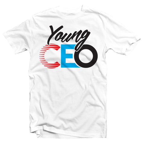 YOUNG CEO LOGO WHITE TEE