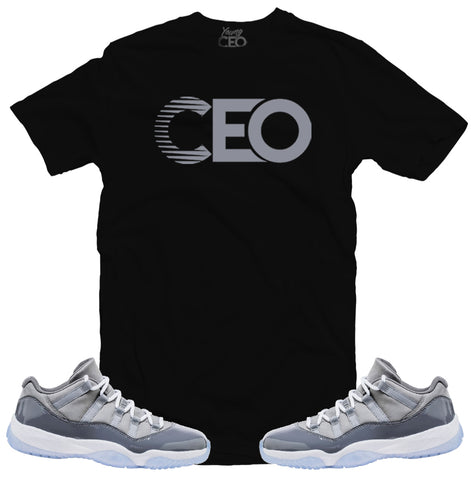 Jordan 11 cool grey CEO black tee-Young CEO