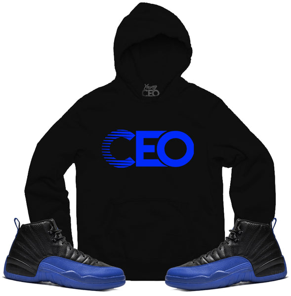 Jordan 12 game royal ceo black hoodie-Young Ceo
