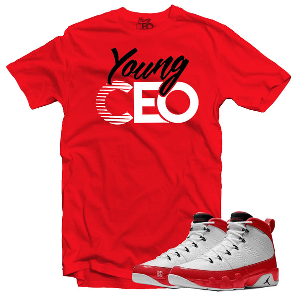 Jordan 9 gym red young ceo red tee-Young Ceo