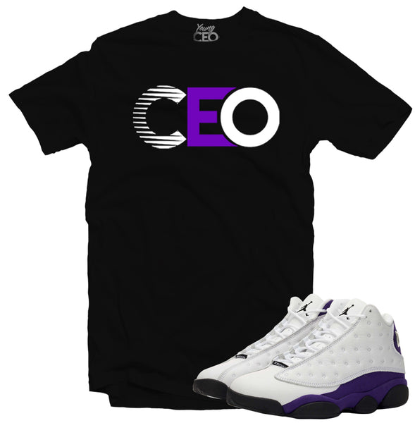 Jordan 13 lakers CEO  black tee-Young Ceo