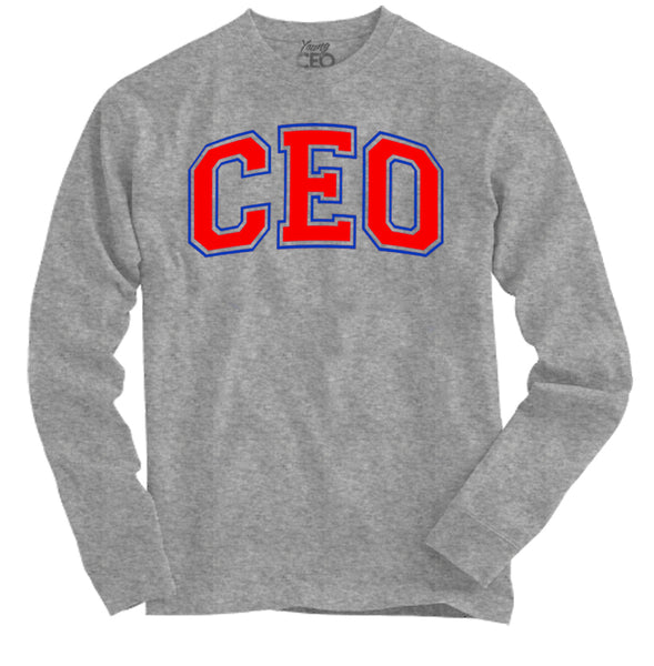Ceo staple long sleeve heather grey tee-Young Ceo