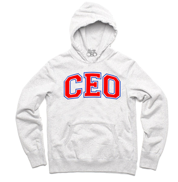Ceo staple white hoodie-Young Ceo
