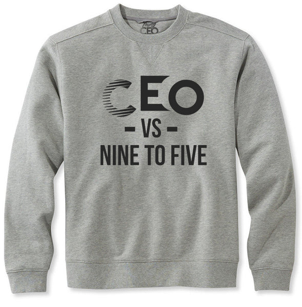 CEO vs 9-5 Black and Heather Grey crew Neck
