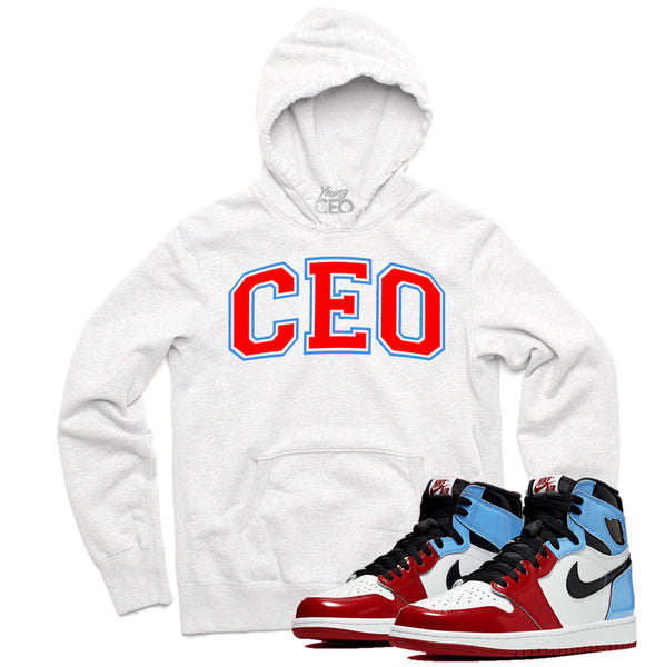 Jordan 1 fearless ceo staple white hoodie-Young Ceo