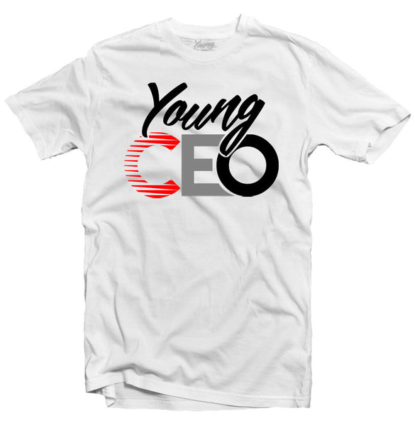 YOUNG CEO NEOPRENE WHITE TEE