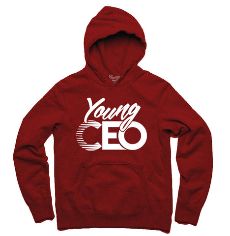 YOUNG CEO BURGUNDY HOODIE