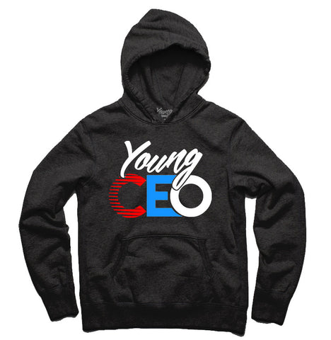 YOUNG CEO BLACK HOODIE LOGO