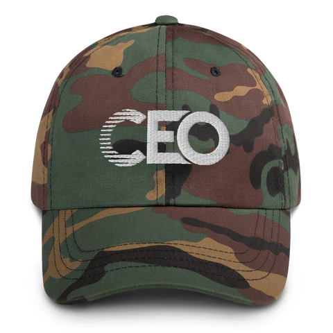 Ceo Camo/White Dad hat