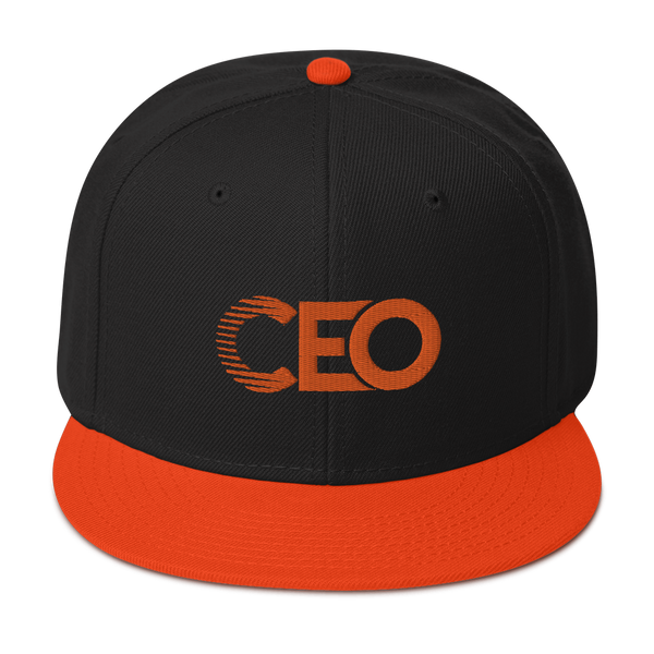 Ceo Orange/ Black Snapback