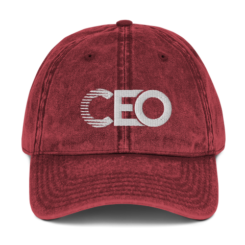 Ceo Maroon Vintage Cotton Twill Cap