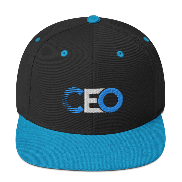 Ceo Teal Blue/Black Snapback