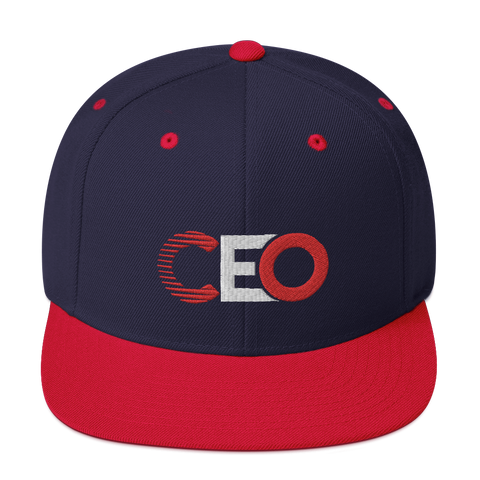 Ceo Navy/Red Snapback