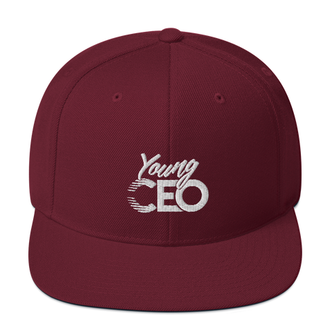 Young Ceo Maroon Snapback Hat