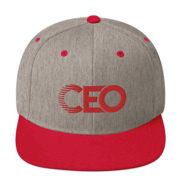 Ceo Red/Grey Snapback