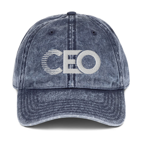 Ceo Jean Blue Vintage Cotton Twill Cap