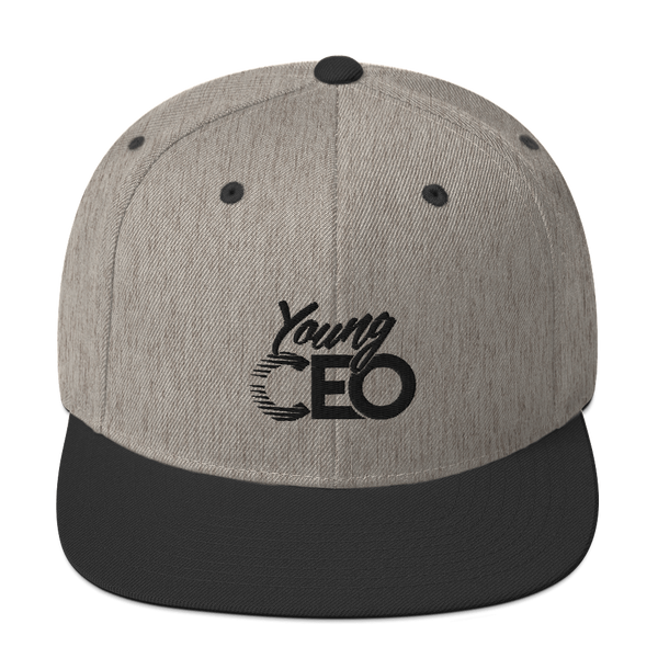 Young Ceo Gray/Black Snapback Hat