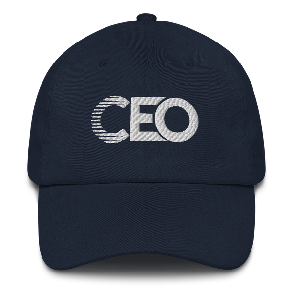 Ceo Navy/White Dad hat