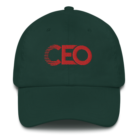 Ceo Green/Red Dad hat