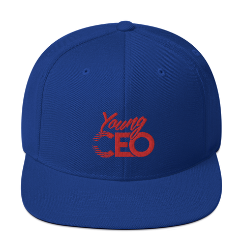Young Ceo Royal/Red Snapback Hat