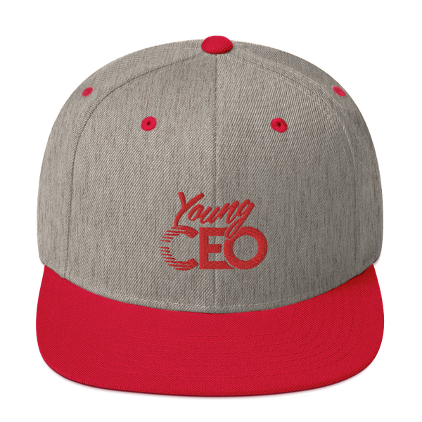 Young Ceo Gray/red Snapback Hat