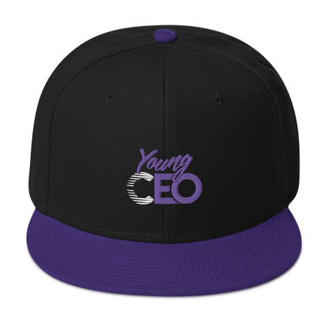 Young Ceo Black/ Purple Snapback Hat