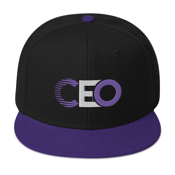 Ceo Purple/White black Snapback