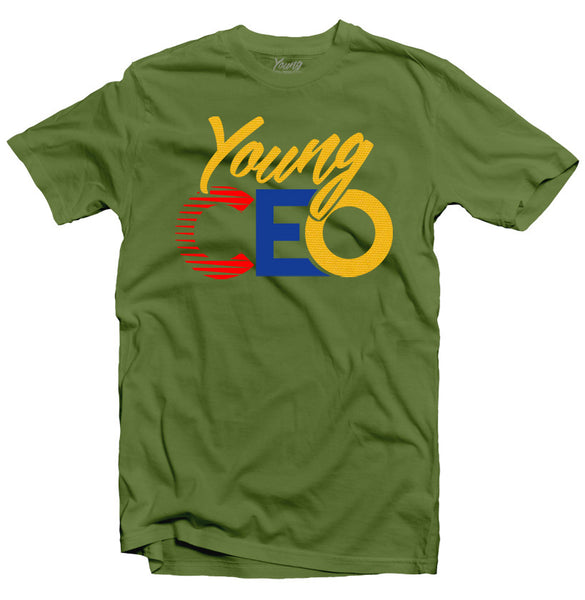YOUNG CEO OLIVE TEE