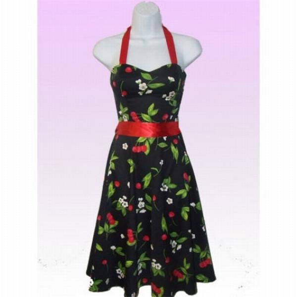 Hearts and Roses - Black Cherry Swing Dress