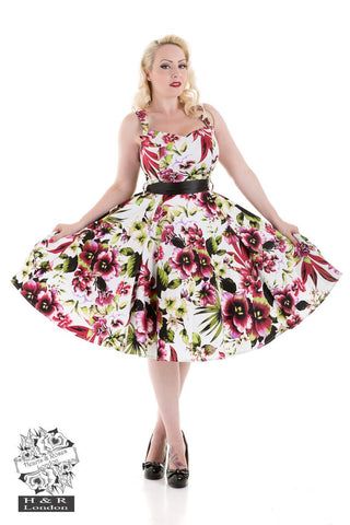 Hearts and Roses - Princess Lily Dress in Red