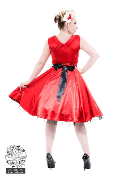 JATOE sells the Hearts and Roses London Red Satin 50's Prom Dress