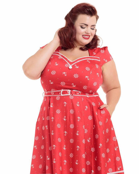 JATOE sells the Voodoo Vixen Leslie Red Dress in all sizes.