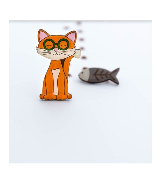 Bok Bok B'Gerk Theodore and Friends Theodore the Cat Brooch