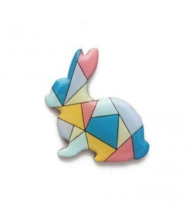 Bok Bok B'Gerk Henrietta the Not So Magical Rabbit Brooch