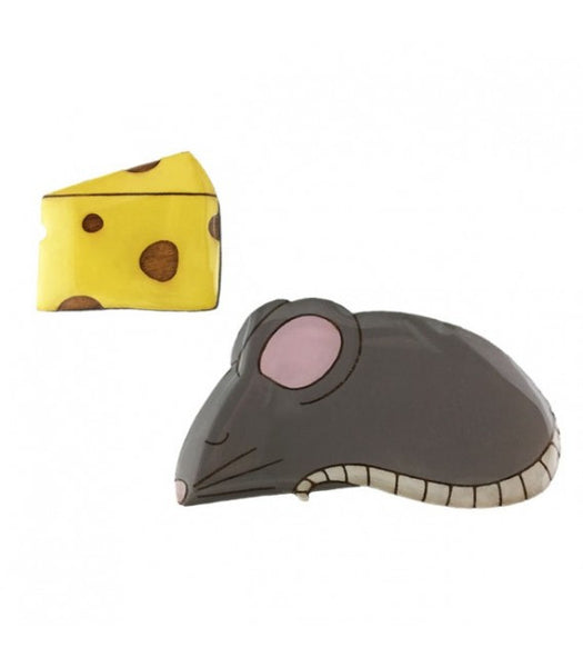 JATOE Bok Bok B'Gerk Perfect Pairs Mouse and Cheese Brooch