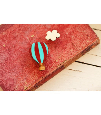Bok Bok B'Gerk Hot Air Balloon Brooch