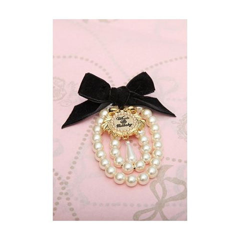 Wheels and Dollbaby Charmed Pearl Brooch