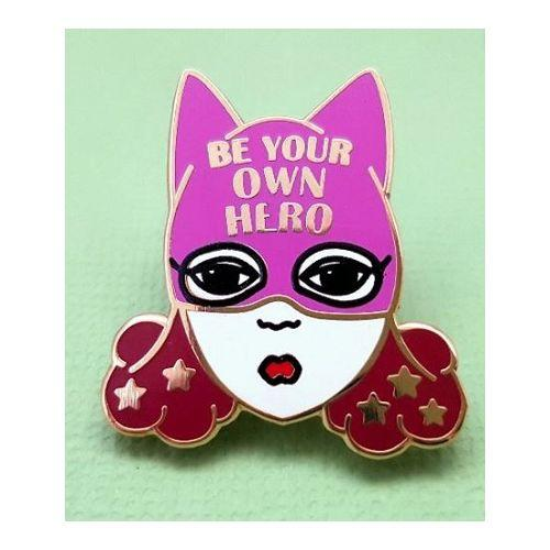 Australian online store, JATOE, sells Jubly Umph merchandise, including the Be Your Own Hero Lapel Pin