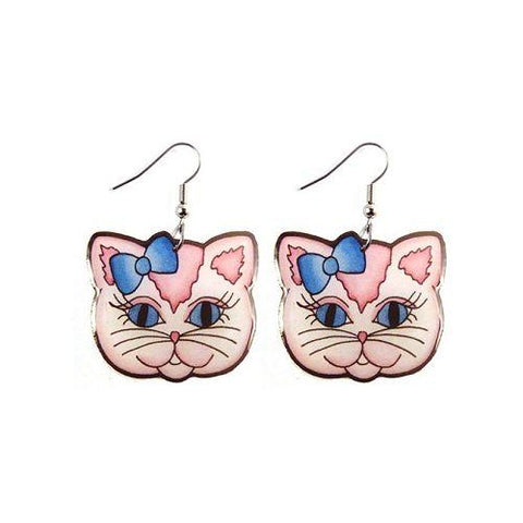 Jubly Umph Earrings Dangle Kitty Hook Earrings