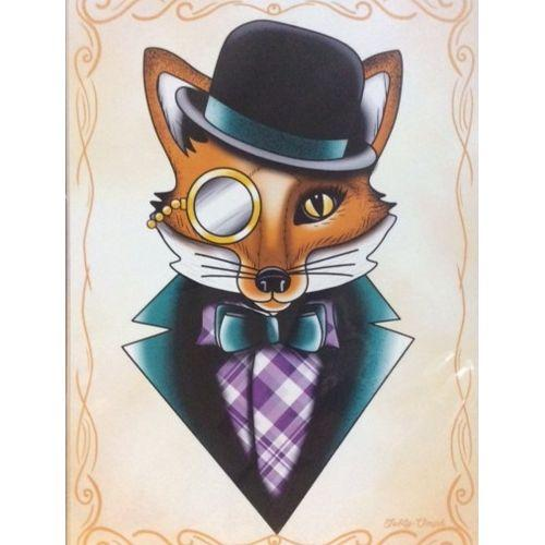 Australian online store, JATOE, sells the Jubly Umph - We're All Different Felix the Fox Print. We also sell Felix the Dapper Fox brooches, gifts sets, necklaces and earrings