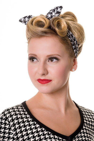 JATOE sells the Banned Happy Days Dog Tooth Hair Band. A fabulous retro hair band www.jatoe.com.au