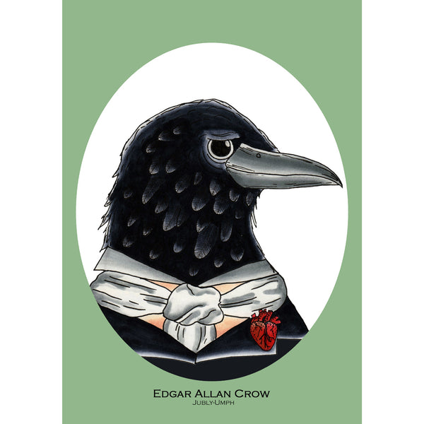 Australian online store, JATOE, sells the merchandise, from Jubly Umph for the Edgar Allan Crow collection.