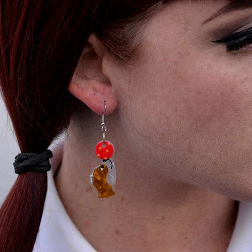 Erstwilder - Dogs - Coco the Clever Cavalier Hook Earrings