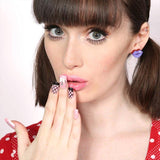 Erstwilder - Fashion - Kiss and Tell Purple Earrings