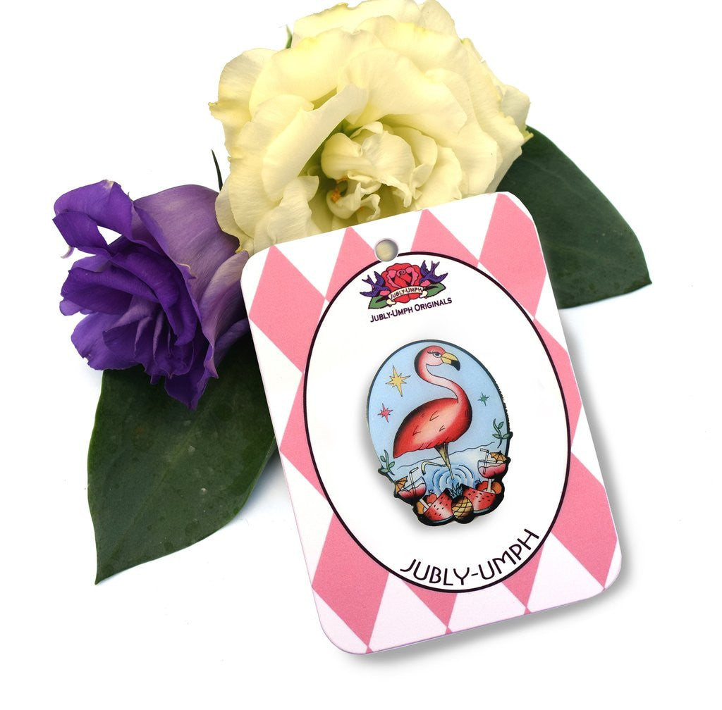The Flamingo brooch by Melbourne based Jubly Umph is a favourite and sold at Just at Touch of Everything - JATOE. JATOE also sells the matching gift set, necklaces, earrings and brooches