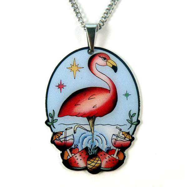 JATOE Jubly Umph Flamboyant Flamingo Pendant Necklace
