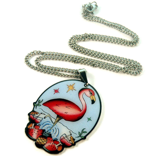 Jubly Umph Necklace Flamboyant Flamingo Pendant Necklace