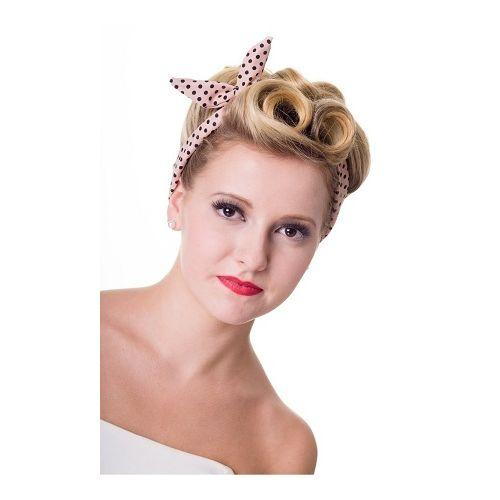 JATOE sells retro hair bands such as the Banned Happy Days Dusty Peach and Black Spotted hairband. www.jatoe.com.au