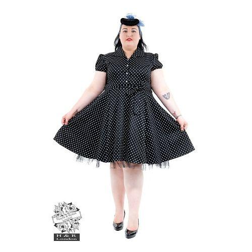 JATOE sells Hearts and Roses Small Polka Dot Tea Dress Plus Size