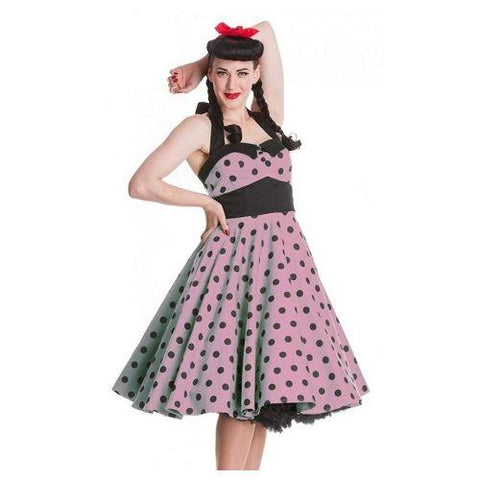 Hell Bunny Adelaide 50's Pink and Black Dress